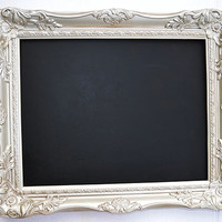 Champagne Ornate Baroque Style Wedding Framed Chalkboard 11x14 inside Wedding Prop Wedding chalkboard photo frame menu board kitchen decor