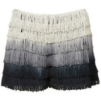 Co-ord Ombre Fringe Shorts - Spotted