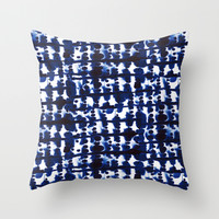 Parallel Indigo Throw Pillow by Jacqueline Maldonado