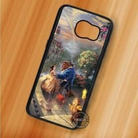 Beauty and The Beast Thomas Kinkade Painting - Samsung Galaxy S7 S6 S5 Note 7 Cases & Covers