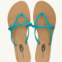 Braided Crossover Flip Flops