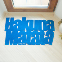 Hakuna Matata floor mat. The Lion King. Custom door mat, cool and modern.