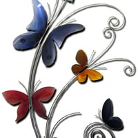 Blissful Butterflies Wall Sculpture by Metal Perspectives