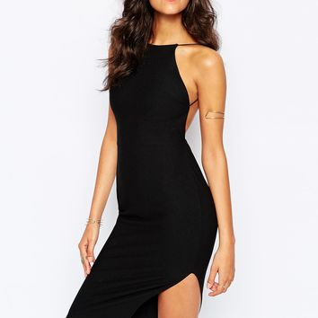 Boohoo Crepe Bodycon Midi Dress