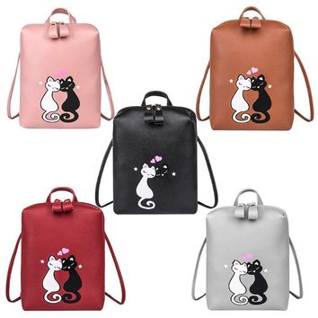 Cute Cat Drawstring Backpack
