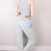 Vintage (LARGE) 70s Lee Acid Wash High Waisted Denim Jeans