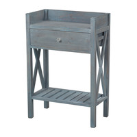 Biscayne Beachcomber Blue Side Table by Sterling