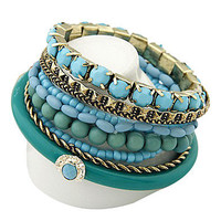 Bohemia Ocean Style Refreshing Beads Multilayer Bracelet