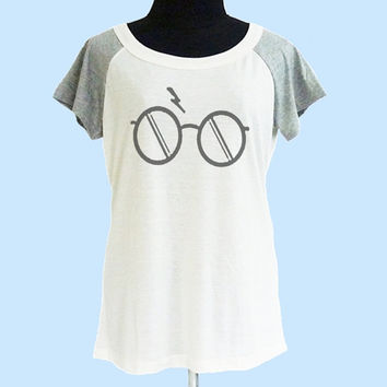 Glass Harry Potter shirt thin soft tops**off white grey**wide neck sweatshirt, crew neck tshirt size S M L  **quote tshirt