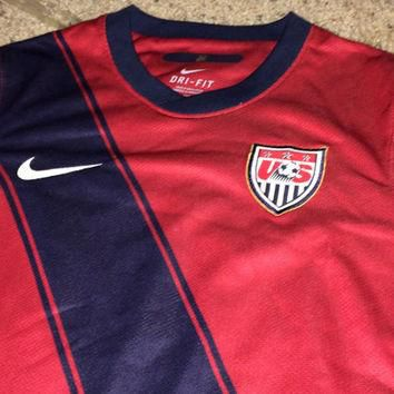Sale!! Vintage Nike USA 3rd Soccer Jersey America World Cup Football Shirt FREE US Shi
