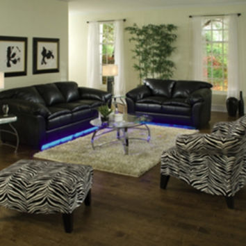 Get the upscale Woodhaven City Lights Living Room Group furniture set