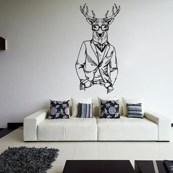 ik1077 Wall Decal Sticker fashion animal deer costume bedroom