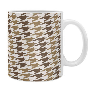 Allyson Johnson Classy Brown Houndstooth Coffee Mug