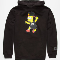 Neff The Simpsons Stoked Boys Hoodie Black  In Sizes