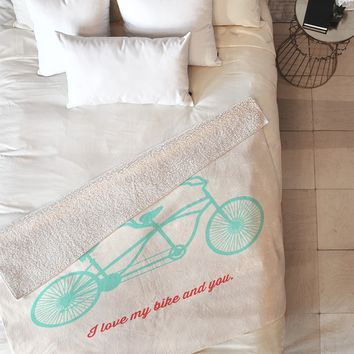 Allyson Johnson My Bike And You Fleece Throw Blanket
