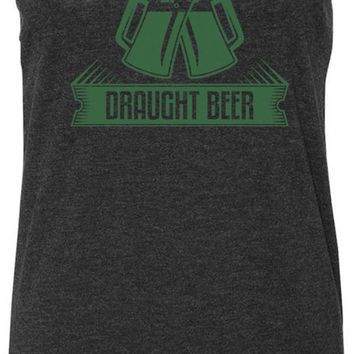 Draught Beer Steins (Green) Tri-Blend Racerback Tank-Top