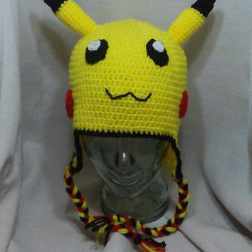 Pokemon Pikachu Hat - Crochet