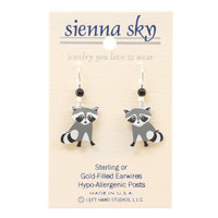 Sienna Sky Young Raccoon Earrings
