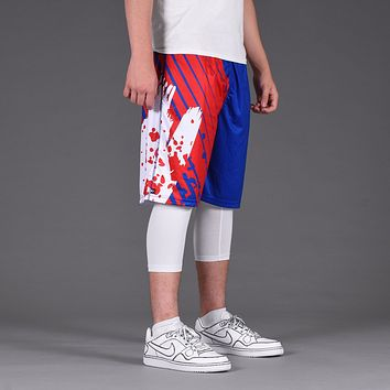 Aerial Blue Red White Shorts