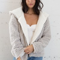 Ella Teddy Jacket - Gray