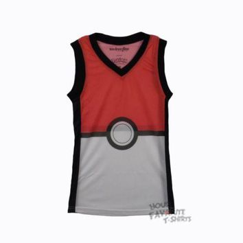 Pokemon Poke Ball Athletic Basketball Jersey Junior Tank Top
