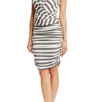 Blouson Striped Dress