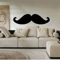 Extra Large Mustache Vinyl Wall Decal by InitialYou on Etsy