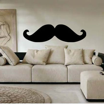 Extra Large Mustache Vinyl Wall Decal