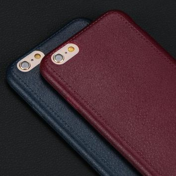Leather Pattern Texture Silicone Phone Case Cover for iPhone 5 5S SE 6 6S 6Plus 7 7Plus Luxury Soft