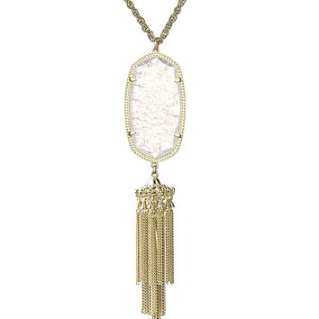 Rayne Gold Necklace in Crackle Crystal - Kendra Scott Jewelry