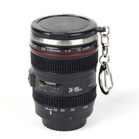 Cool Mini Camera Lens Stainless Steel Thermos Travel Mug, Ideal for Camping/ Hiking/ Hunting Outdoor Drinking and Office Storage