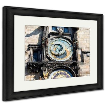Framed Print, Prague Astronomical Clock In The Old Town Of Prague