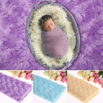 Hot Soft Newborn Baby Faux Fur Basket Blanket Photography Photo Prop  D_L = 1931552452