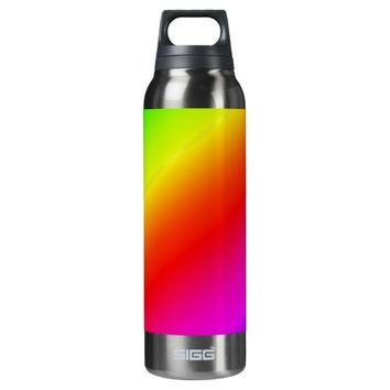 Colorful 2 Diagonal Stripes 16 Oz Insulated SIGG Thermos Water Bottle