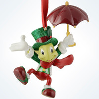 disney parks christmas pinocchio jiminy cricket resin ornament new with tag
