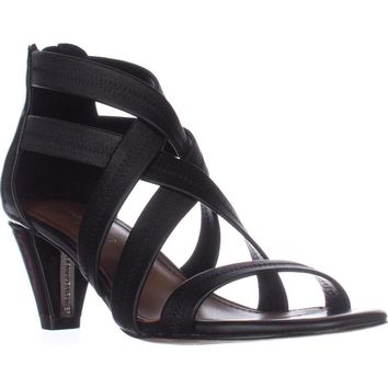 Donald J Pliner Vida Strappy Dress Sandals, Black/Black, 9 US