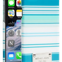 MICHAEL Michael Kors 'Tonal Stripe' iPhone 6 Case - Blue