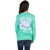Whatever Floats Your Boat Long Sleeve Tee Shirt in Seafoam by Lauren James - FINAL SALE