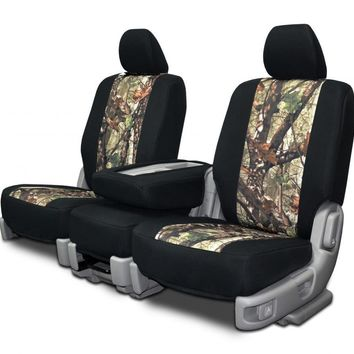 Custom Seat Covers - Nissan Titan 40-20-40 - Neoprene & True Timber Camo Fabric
