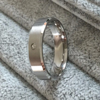 Drbonham Classic 6mm Stainless Steel Engagement Wedding Bands For Men R0020