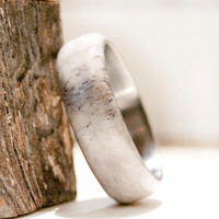 Antler RIng WIth Titanium