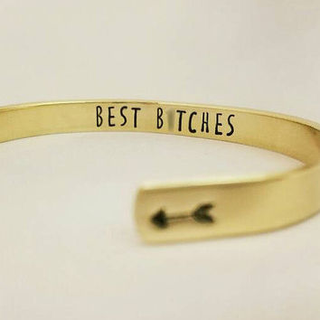 Best Friends Best B*tches Cuff Bracelet
