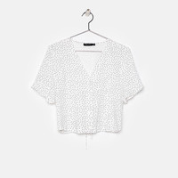Lace-up shirt - New - Bershka Spain