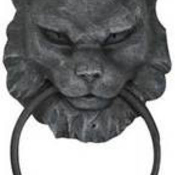 Cat Gargoyle door knocker 7""""