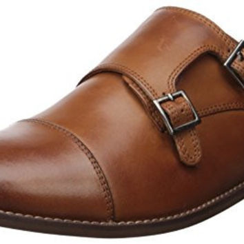 Florsheim Men's Montinaro Double Monk Oxford, Saddle Tan, 9.5 D US