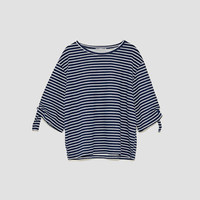 OVERSIZED T-SHIRT WITH KNOTS