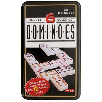 Double 6 Color Dot Dominoes Game Set (Available in a pack of 4)