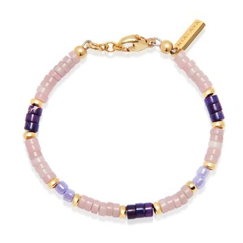 Women's Heishi Bead Collection - Pink, Purple and Gold