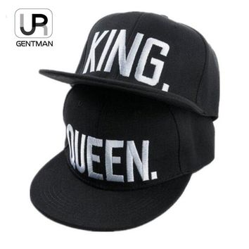 [URGENTMAN]Hot Sale KING QUEEN Embroidery Snapback Hat Acrylic Men Women Couple Baseball Cap Gifts Fashion Hip-hop Caps