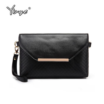 YBYT brand 2017 new joker leisure envelope clutch hotsale ladies cell phone evening bags simple shoulder messenger crossbody bag